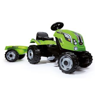 Smoby Tractor with Trailer-Green