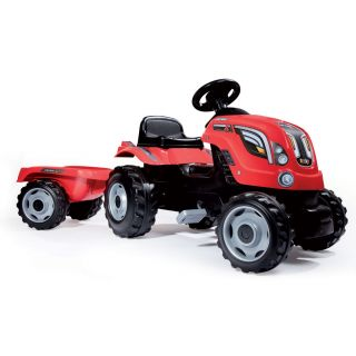 Smoby Tractor with Trailer-Red