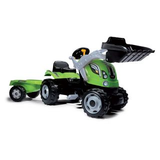 Smoby Max Tractor with Trailer - Green