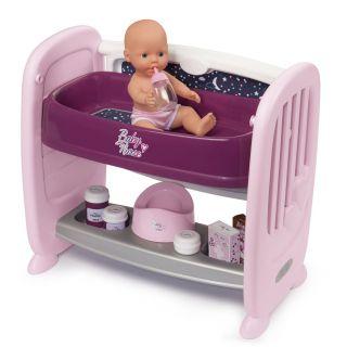 Smoby Baby Nurse Crib and Nursing Table, 2in1