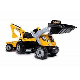 Smoby Max Builder Pedal Tractor with Trailer