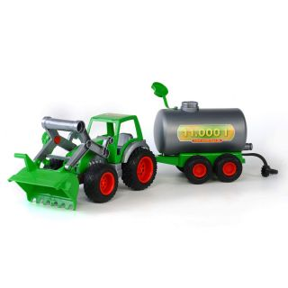 Polesie Tractor with Front Loader and Tanker