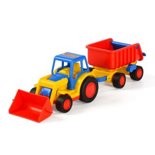 Polesie Basics Tractor with Loader and Trailer
