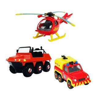 Fireman Sam vehicles, 3pcs. Set A