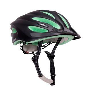 Hudora Basalt Black / Green Cycling Helmet - Size 49-52