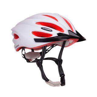 Hudora Basalt White / Orange Bicycle Helmet - Size 49-52