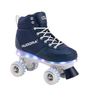 Hudora Roller skates Blue with LED, size 29-30