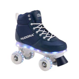 Hudora Roller skates Blue with LED, size 31-32