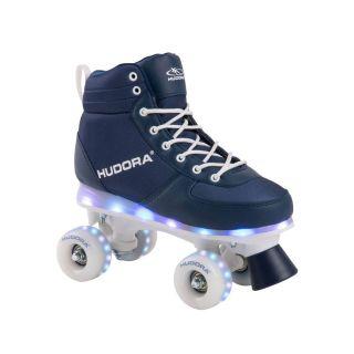 Hudora Roller skates Blue with LED, size 33-34