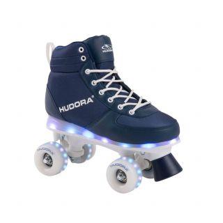 Hudora Roller skates Blue with LED, size 35-36