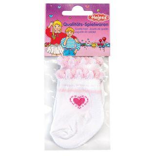 Doll socks-white, 35-46 cm