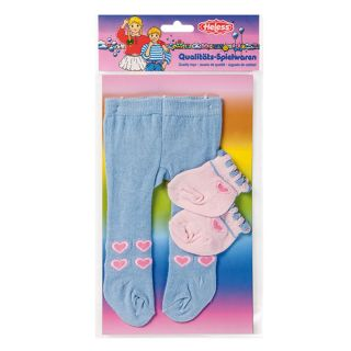 Dolls maillot with Socks-blue, 35-46 cm
