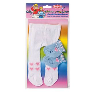 Dolls maillot with Socks-white, 35-46 cm