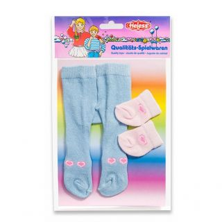 Dolls maillot with Socks-blue, 28-35 cm