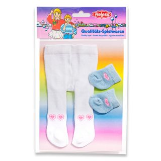 Dolls maillot with Socks-white, 28-35 cm