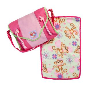 Doll diaper bag with accessories