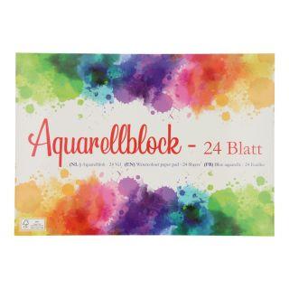 Watercolor block A4, 24 sheets