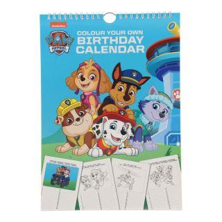 Birthday Calendar Paw Patrol