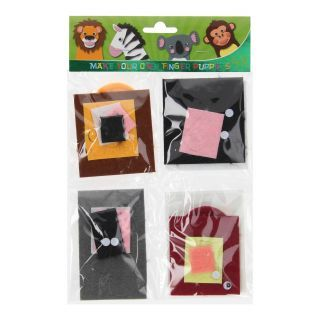 Craft Kit Making Finger Puppets - Wild Animals