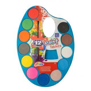 Watercolor palette, 12 Colors