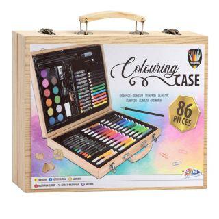Wooden Color Case Artist, 86 pcs.