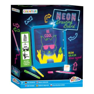 Neon Drawing Board with Light