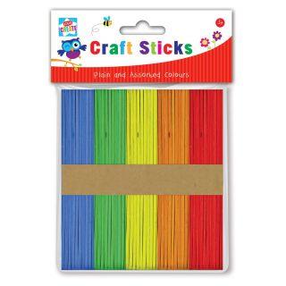 Jouet-Plus Bâtons d'artisanat colorés, 100 pcs