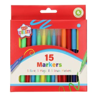 Jouet-Plus Feutre magique et stylos à peinture, 15 pcs