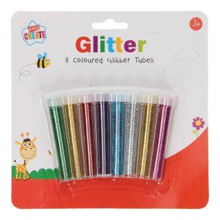 Glitter Tubes, 8 Colors