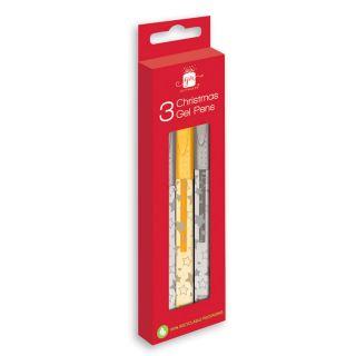 Gel pens Silver / Gold, 3pcs.