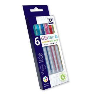 Glitter & Odor Gel Pencil, 6pcs.