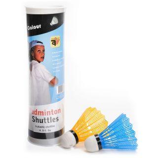 Jouet-Plus 6 Volants en plastiques colorés Badminton