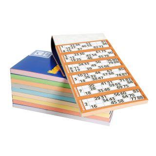 Bingo cards 100 sheets, 600 cards