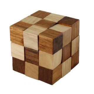 IQ Puzzle Wood Cube Snake