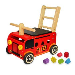 Jouet-Plus Porteur trotteur Camion de Pompier avec trieur de formes
