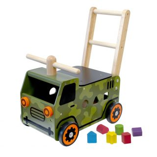 I'm Toy Walk and Push Truck Army Truck
