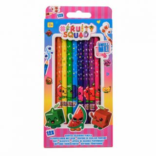 Fruity Squad Colored Pencils with Scent, 12pcs.
