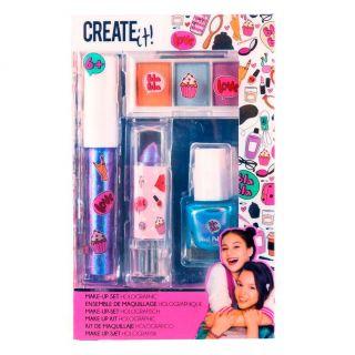 Create It! Make-up Set Holographic, 4dlg.