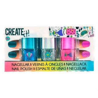 Create It! Nail polish Glitter, 3 pieces.