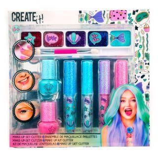 Create It! Makeup Set Glitter, 7dlg.
