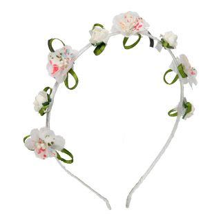 Jouet-Plus Serre tête fleurs blanches