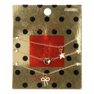 Jouet-Plus Collier avec médaillon de Noël, 3pcs