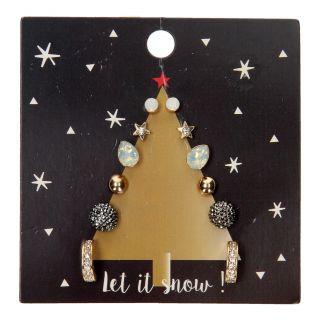 Children's Stud Earrings Christmas tree, 6 pairs