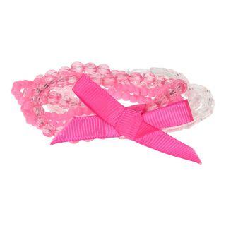 Jouet-Plus Bracelets perlés rose avec nœud, 6pcs