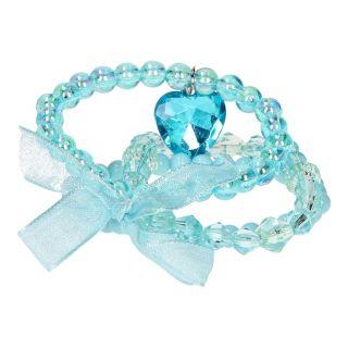 Jouet-Plus Bracelets perlés bleus avec nœud, 3pcs
