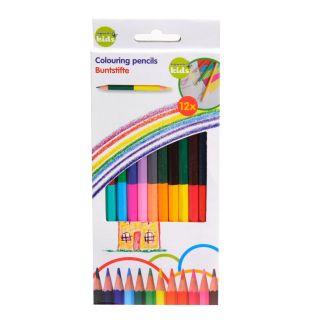 Jouet-Plus Crayon double couleur, 12 pcs