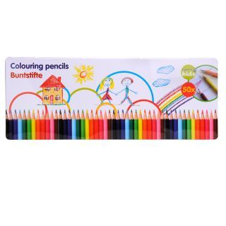 Jouet-Plus Crayons de couleur en boîtes, 50 pcs, modèle aléatoire 31941