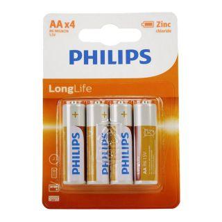 Philips Battery R6 AA Long Life
