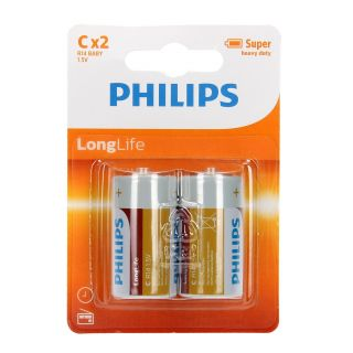 Philips Battery R14 C Longlife