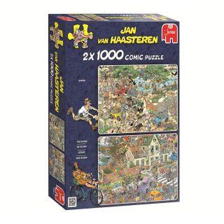 Jan van Haasteren-2 in 1 Safari & Storm, 1000pcs.